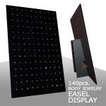 Black Velvet, Easel, Display Unit, Hardwood Board, V-Clips.