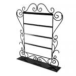 Decorative Steel Stand Earrings Display in Black Color (44 Pairs)