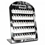 Full Stainless Steel Earring Display - 25 Pairs Of Earrings With A Post Style Backing