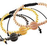 Macramé Bracelet with Micro Pave Jeweled Bead