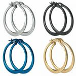 Wholesale Stainless Steel Hoop Earrings - Available in Different Colors