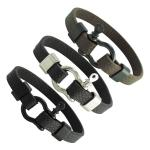 Base Metal Leather Bracelet with Screw Pin Clasp
