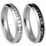 Stainless Steel Ring With Princess Cut CZ Center
