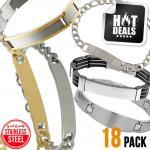 Stainless Steel Assorted Engravable Bracelet Pack