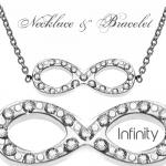 Infinity Necklace and Bracelet
