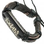 Chinese Symbols Leather Bracelet