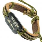 Chinese Symbols Leather Wristband