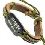 Chinese Symbols Leather Wristband