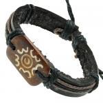 Unity Symbol Leather Bracelet