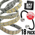 Stainless Steel Magnetic Bracelet 18 Pc. Package