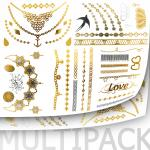 Wholesale Metallic Tattoo Packs