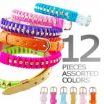 Synthetic PU Leather Bracelets with Rhinestone Chain and Satin Cord