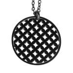 circular black pendant