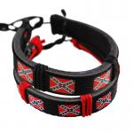 American Heritage rebel Flag Leather Bracelet