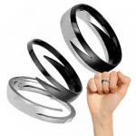 Black Lightning Knuckle Ring