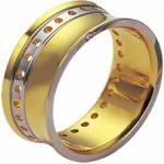 Stainless Steel Ring with 18K Gold Coating