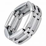 Wholesale Stainless Steel Ring with Links Design
