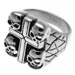 Biker Ring with Skulls