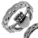 Claddagh Irish Ring in Stainless Steel