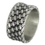Men's Biker Stainless Steel Weaved Designer Ring