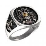 Scottish Rite 33rd Degree Masonic Signet Ring