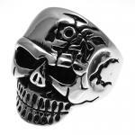 Stainless Steel Terminator Skull Ring