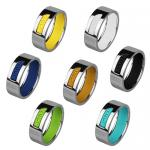 Very Sporty ACTIVE Line Stainless Steel And Silicone Ring