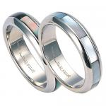 RSSH-3 Stainless Steel Ring with Shell - Unisex