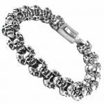 Stainless Steel Skull Head Bracelet