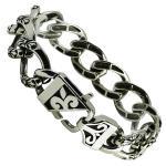 Stainless Steel Curb Biker Bracelet
