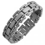 Stainless Steel Bracelet with Reinforced Link Structure