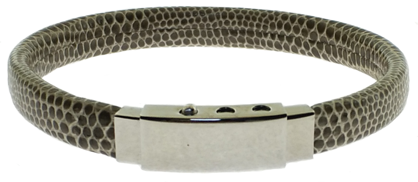 Snakeskin Pattern Bracelet with Stainless Steel Clasp
