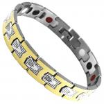 Stainless Steel Two Tone Magnetic Bracelet