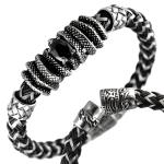 Stainless Steel Wire and Rubber Thick Bracelet