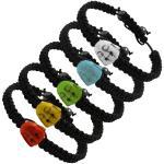 Black Braided Thread Bracelet with Buddha Head