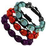 Tibetan Macrame Bracelet Jeweled Skulls
