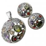 Set of Vintage Earrings and Pendant