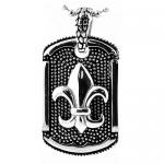 Stainless Steel Pendant With Fleur De Lis Design