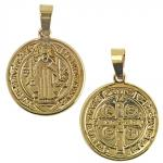Stainless Steel Gold PVD San Benito Pendant