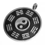 Bagua Pendant in Stainless Steel