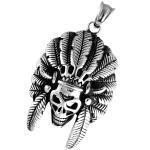 Stainless Steel Indian Skull Head Pendant