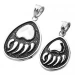Bear Paw/Claw Pendant in Stainless Steel 316L