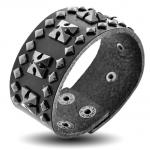Black Leather Braceler